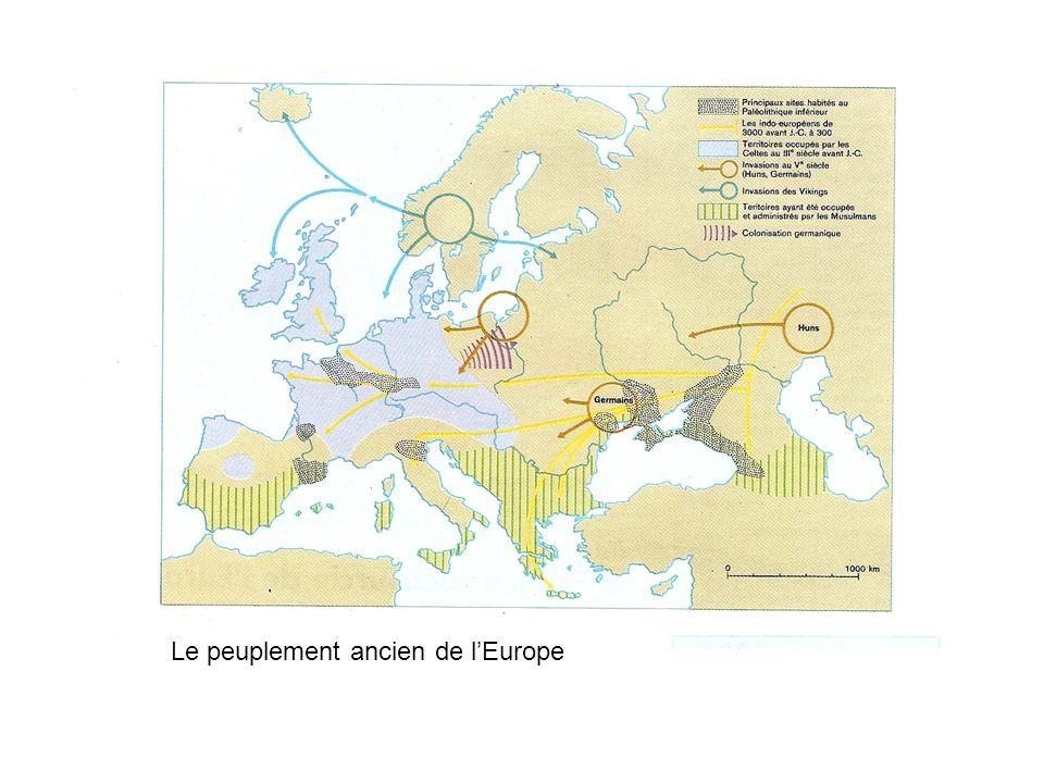 Le peuplement ancien de lEurope