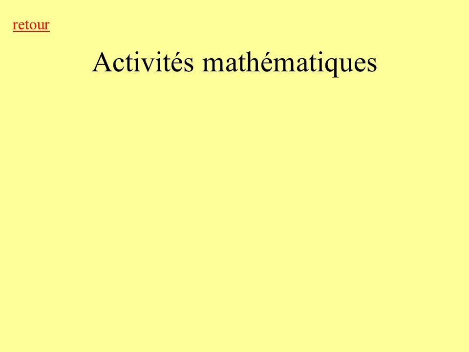 Activités mathématiques retour