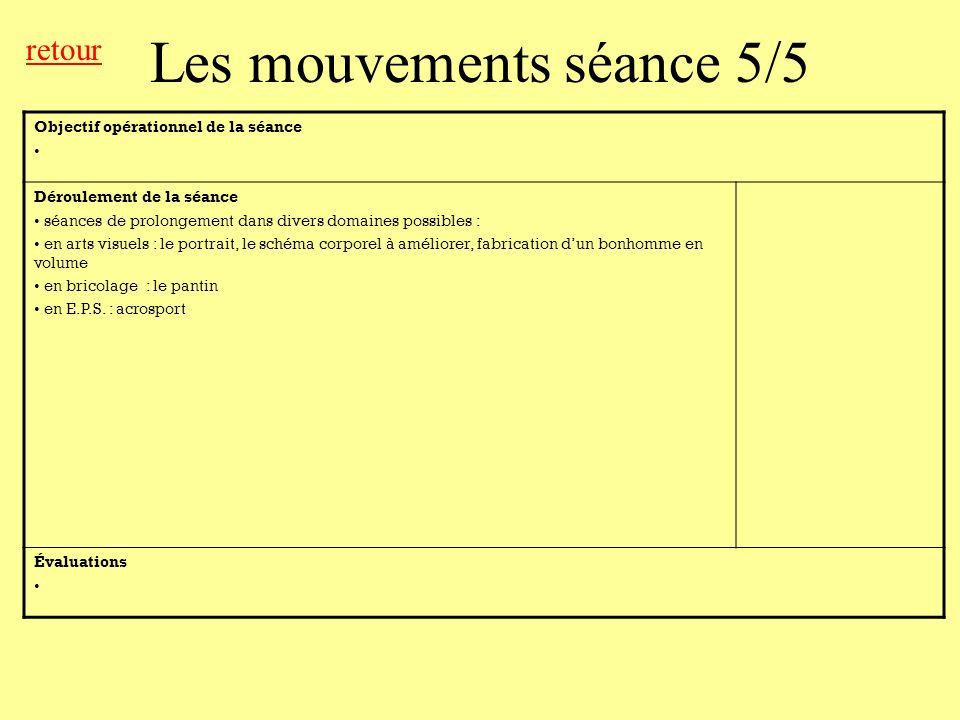 Objectif opérationnel de la séance Déroulement de la séance séances de prolongement dans divers domaines possibles : en arts visuels : le portrait, le