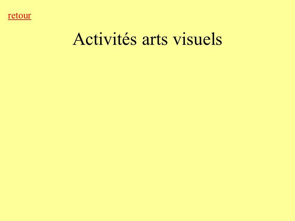 Activités arts visuels retour