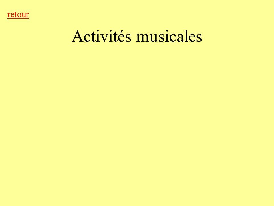 Activités musicales retour