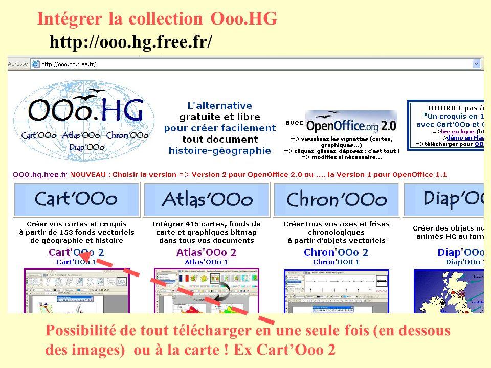 Intégrer la collection Ooo.HG http://ooo.hg.free.fr/ Possibilité de tout télécharger en une seule fois (en dessous des images) ou à la carte ! Ex Cart
