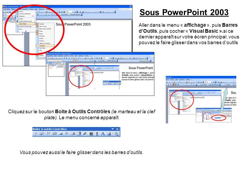 Sous PWT 2007: Faire apparaitre longlet « développeur ».