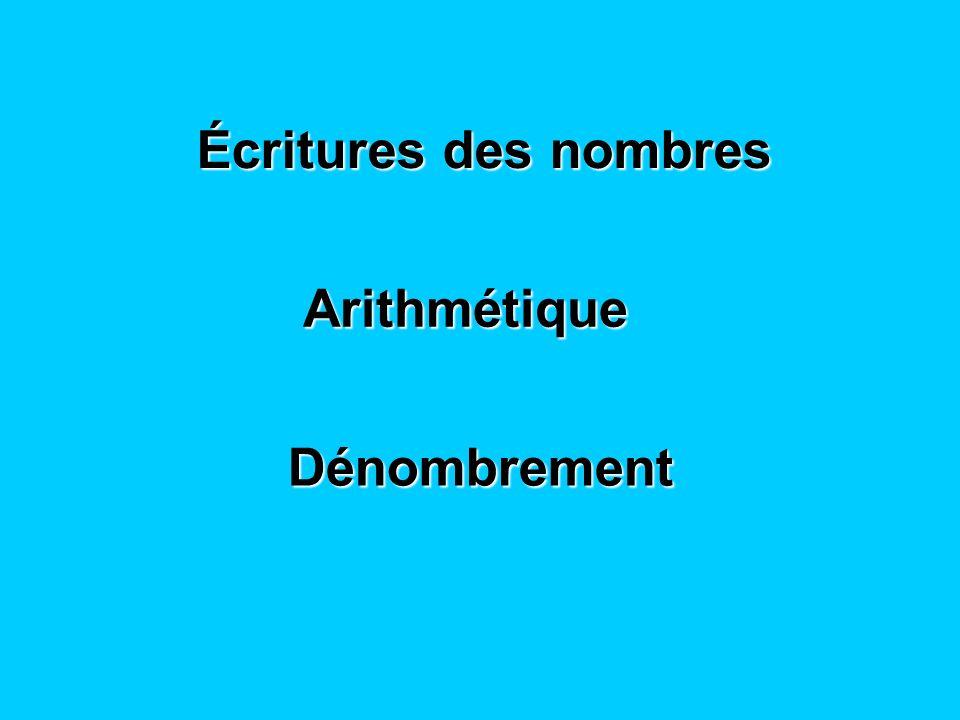 Écritures des entiers naturels Écriture décimale des réels