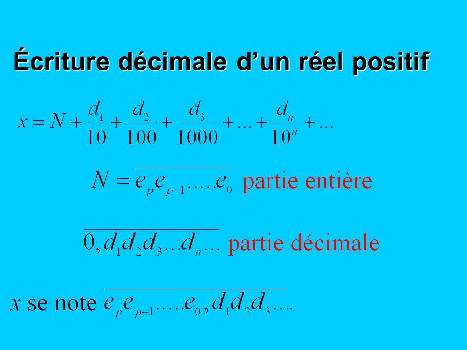 Écriture décimale dun réel positif