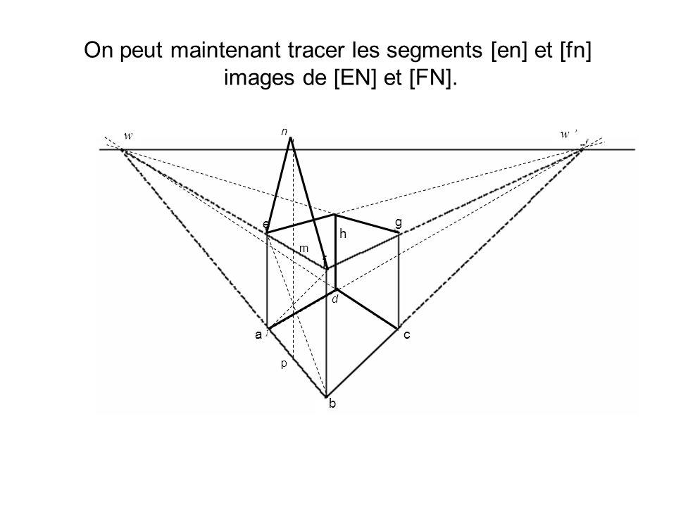 On peut maintenant tracer les segments [en] et [fn] images de [EN] et [FN]. d h w w a b c e f g p m n