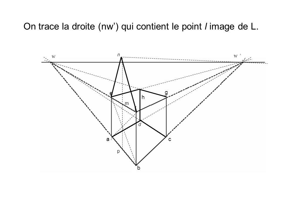 On trace la droite (nw) qui contient le point l image de L. d h w w a b c e f g p m n