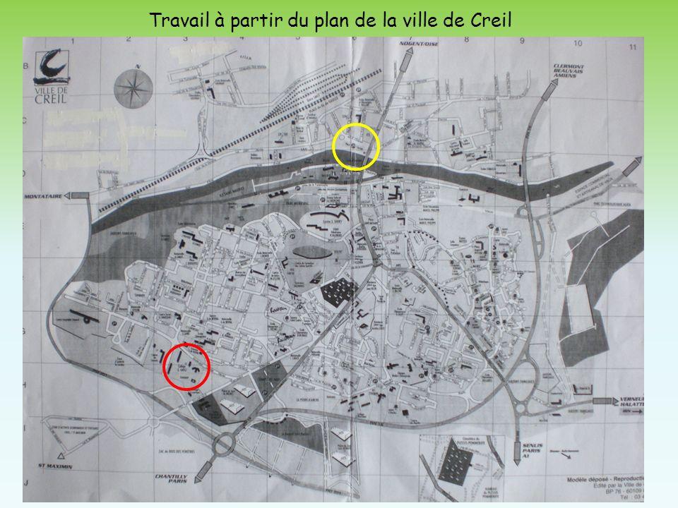 Travail à partir du plan de la ville de Creil