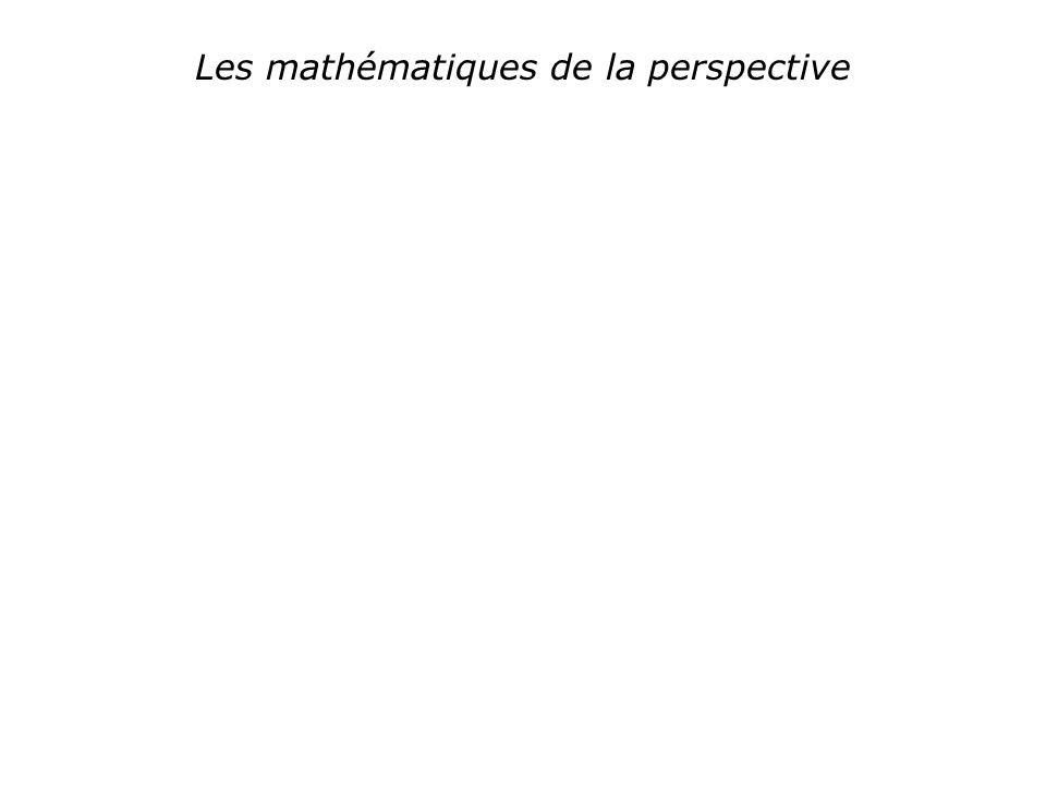 Les mathématiques de la perspective