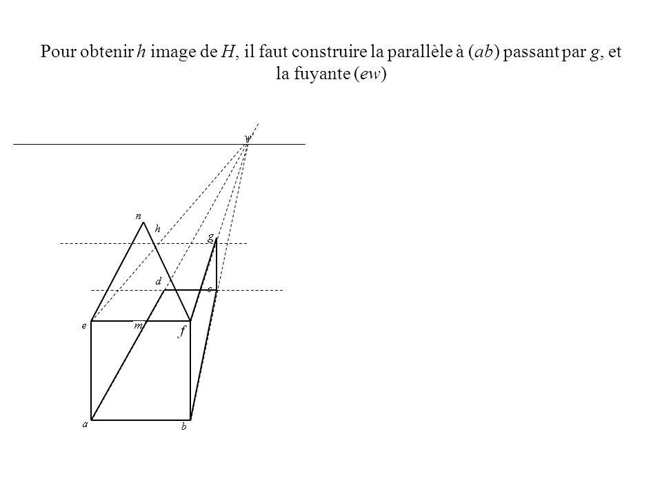 Le point de distance d 1 est lintersection de (ac) et (eg).