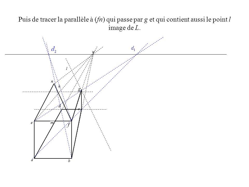 Il ne reste plus qua représenter les segments [nl], [lg] et [lh]