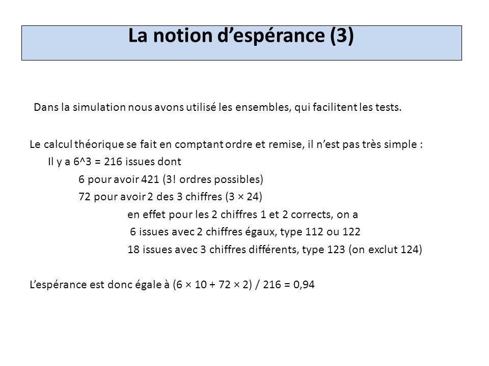 La loi binomiale (1) 1°ES, S : « On peut simuler la loi binomiale avec un algorithme.