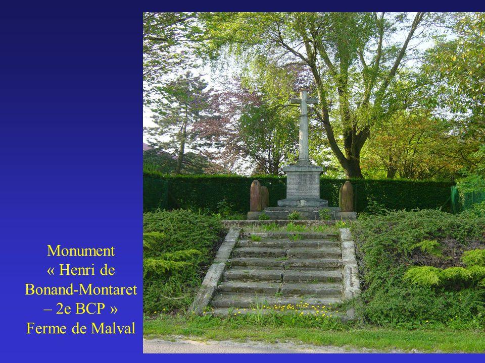 Monument « Henri de Bonand-Montaret – 2e BCP » Ferme de Malval