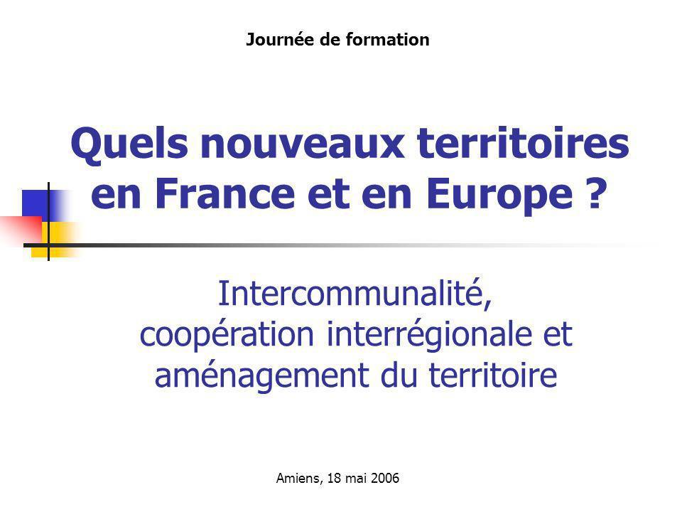 Les métamorphoses des politiques françaises daménagement du territoire - 3 -