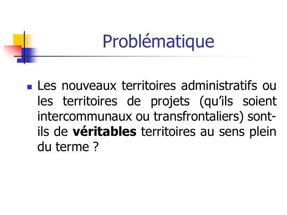 Les recompositions territoriales actuelles - 1 -