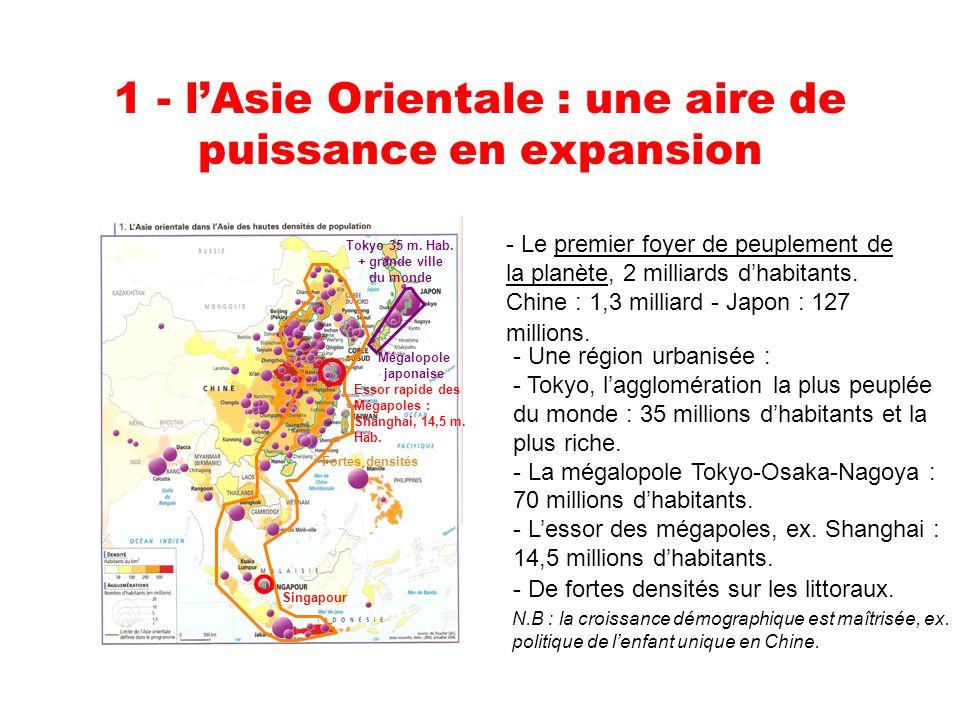 1 - lAsie Orientale : une aire de puissance en expansion Tokyo 35 m.