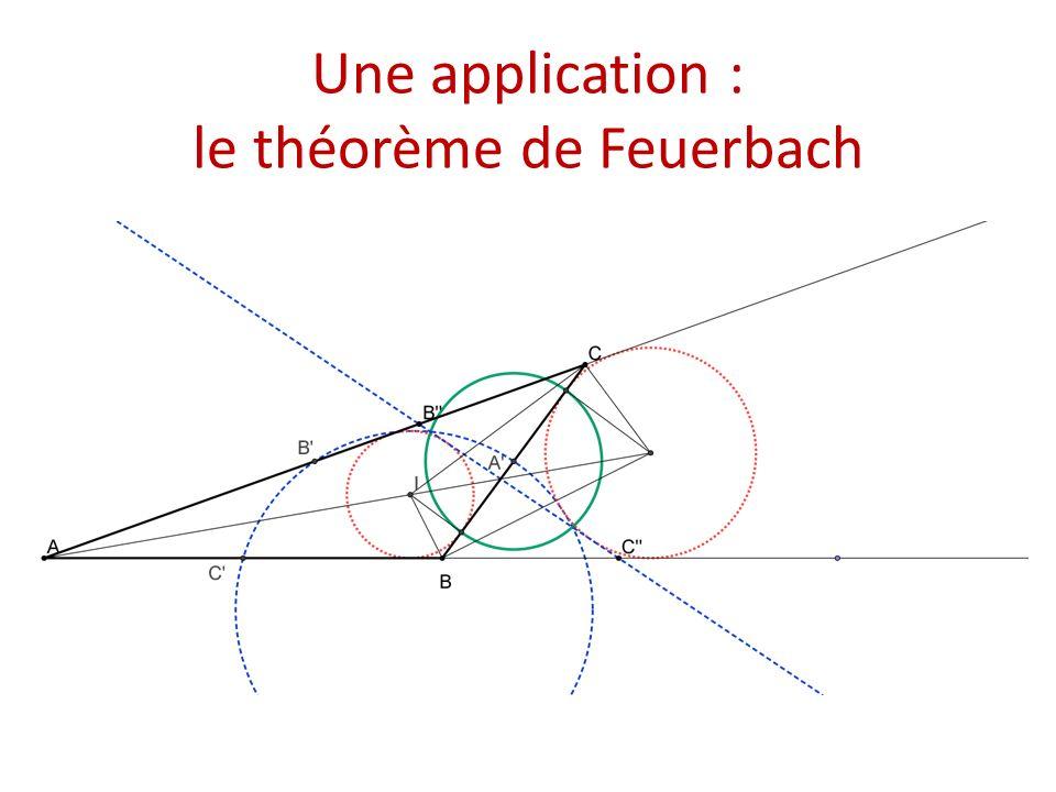Une application : le théorème de Feuerbach