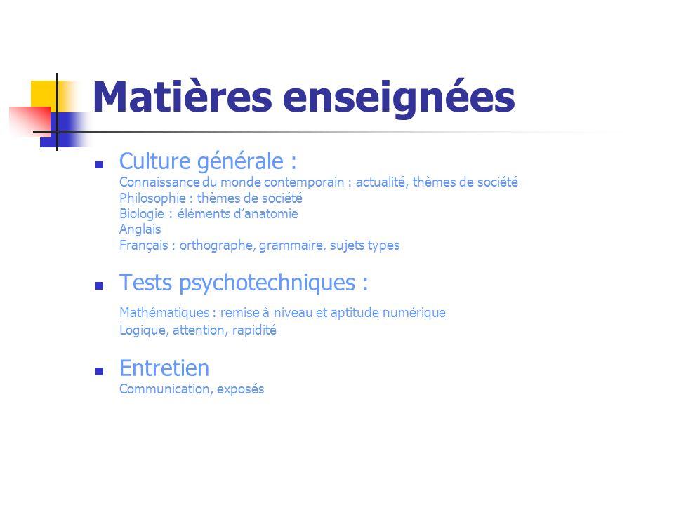 Matières enseignées Culture générale : Connaissance du monde contemporain : actualité, thèmes de société Philosophie : thèmes de société Biologie : él