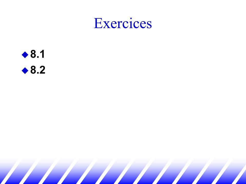 Exercices 8.1 8.2