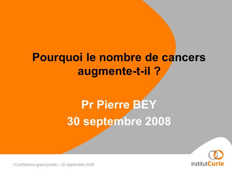 2Conférence grand public – 30 septembre 2008 Les cancers ont toujours existé.
