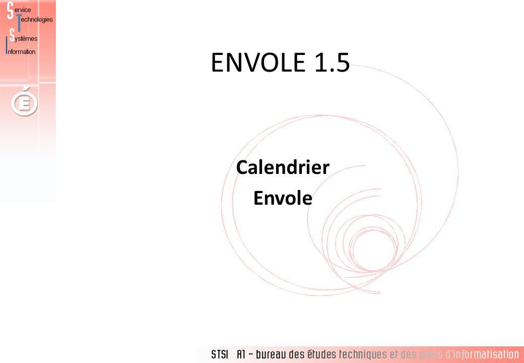 ENVOLE 1.5 Calendrier Envole