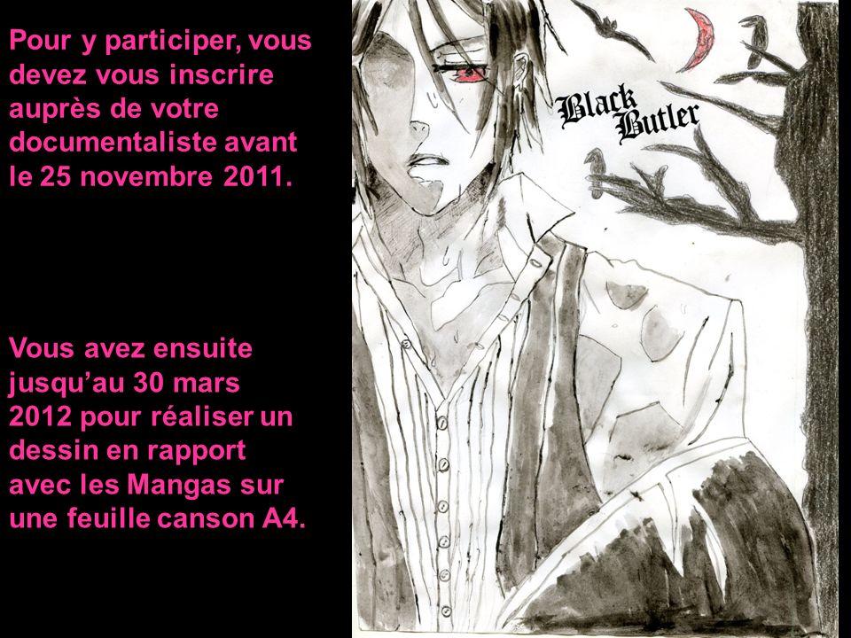 Pour y participer, vous devez vous inscrire auprès de votre documentaliste avant le 25 novembre 2011. Vous avez ensuite jusquau 30 mars 2012 pour réal