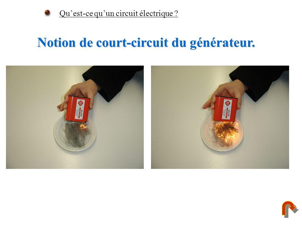 Notion de court-circuit du générateur. Quest-ce quun circuit électrique ?