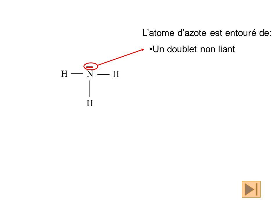 N H H H Un doublet non liant