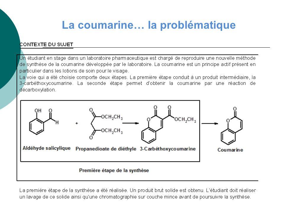La coumarine… la problématique