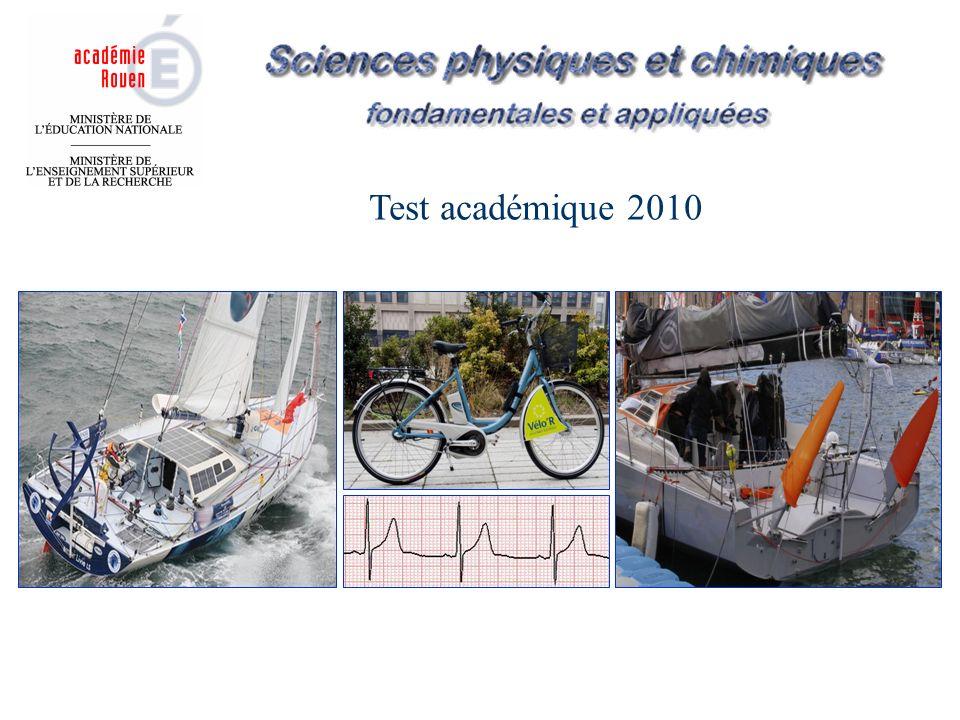 Test académique 2010