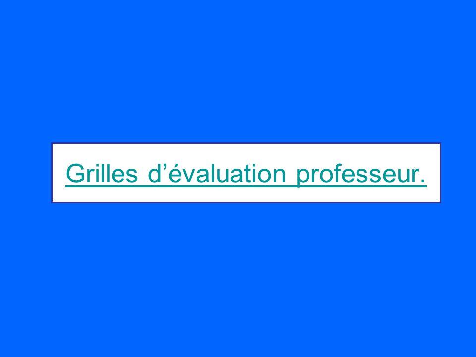 Grilles dévaluation professeur.