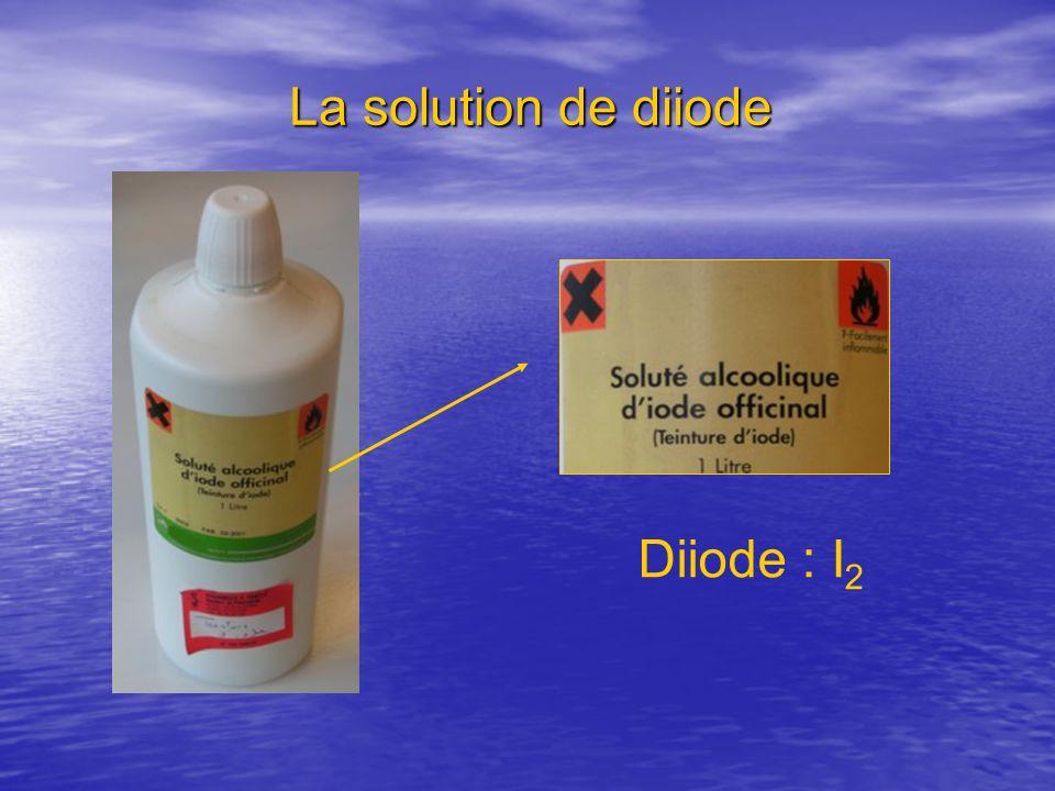 La solution de diiode Diiode : I 2