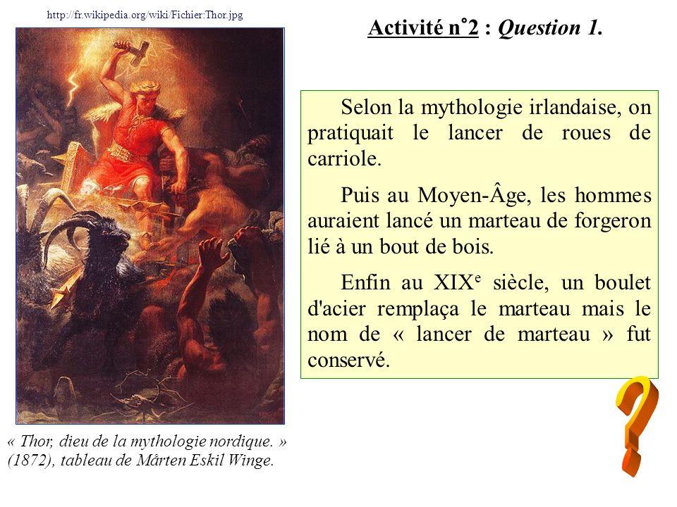 Activité n°2 : Question 2.