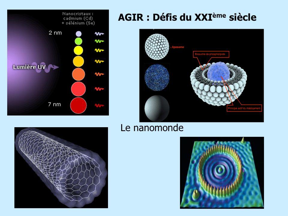 AGIR : Défis du XXI ème siècle Le nanomonde