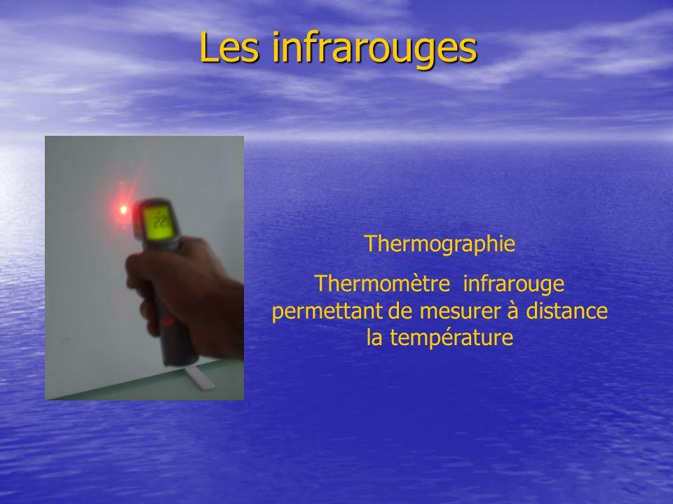 Les infrarouges Thermographie Thermomètre infrarouge permettant de mesurer à distance la température