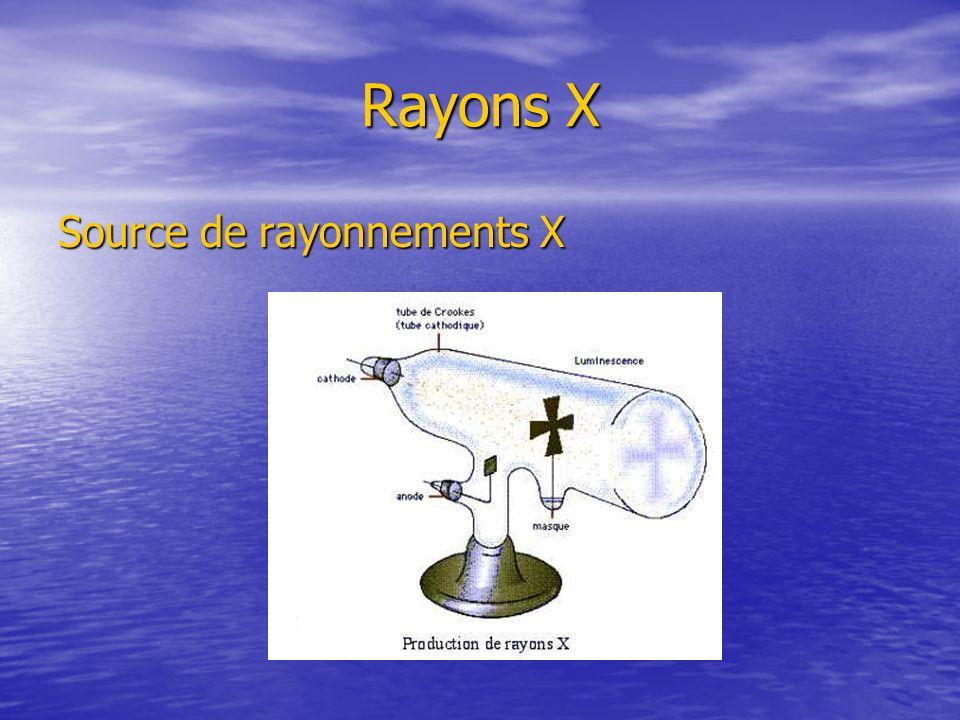 Rayons X Source de rayonnements X