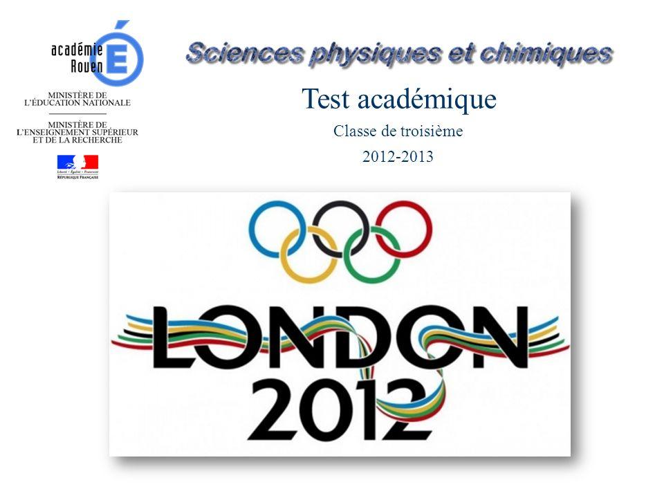 Test académique Classe de troisième 2012-2013