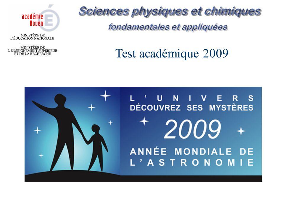 Test académique 2009