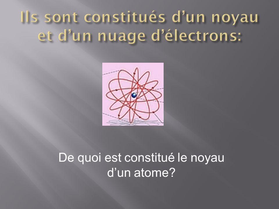 De quoi est constitué le noyau dun atome