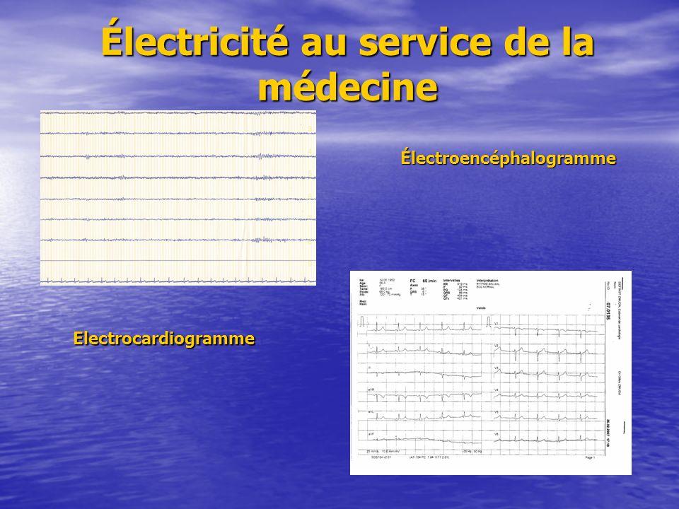 Électroencéphalogramme Electrocardiogramme Electrocardiogramme Électricité au service de la médecine