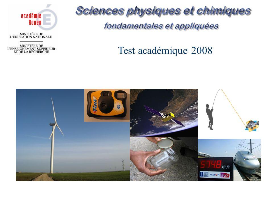 Test académique 2008