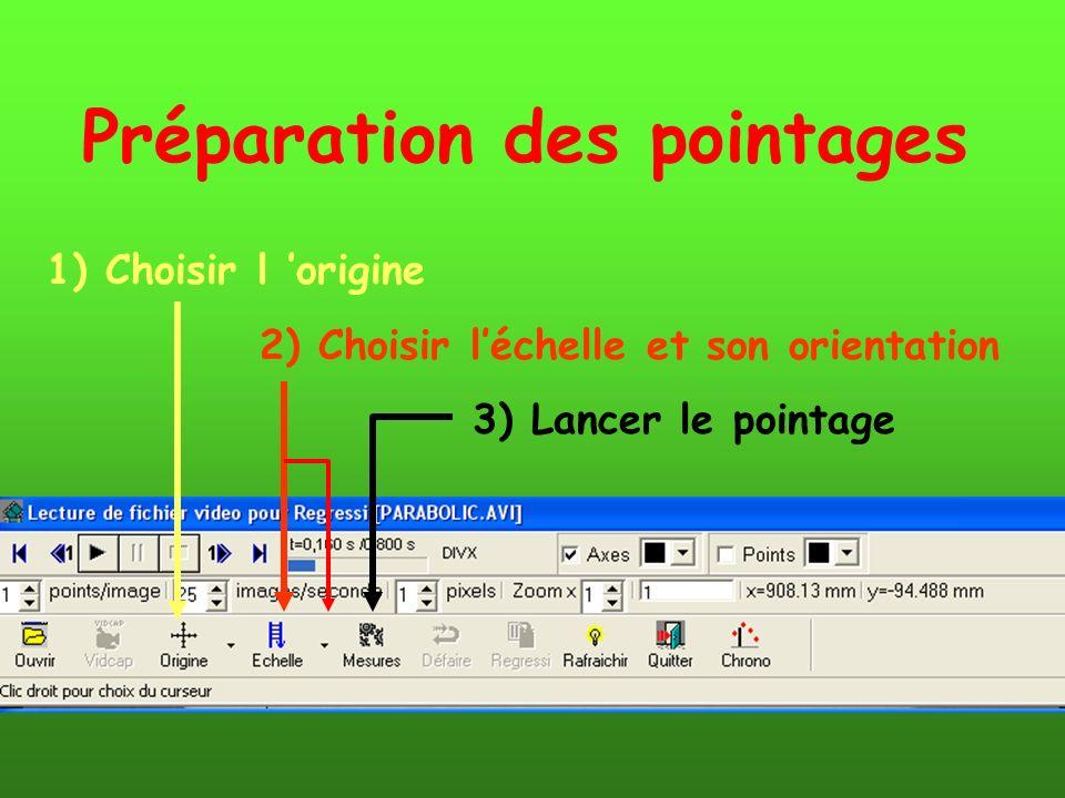 1) Choisir l origine 2) Choisir léchelle et son orientation 3) Lancer le pointage Préparation des pointages