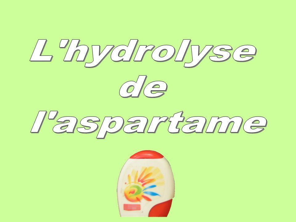 Les réactifs: deux sucrettes daspartame 20 mL dacide chlorhydrique de concentration c=1,0mol.L -1