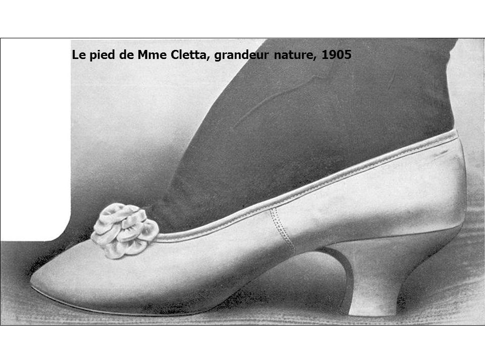 Le pied de Mme Cletta, grandeur nature, 1905