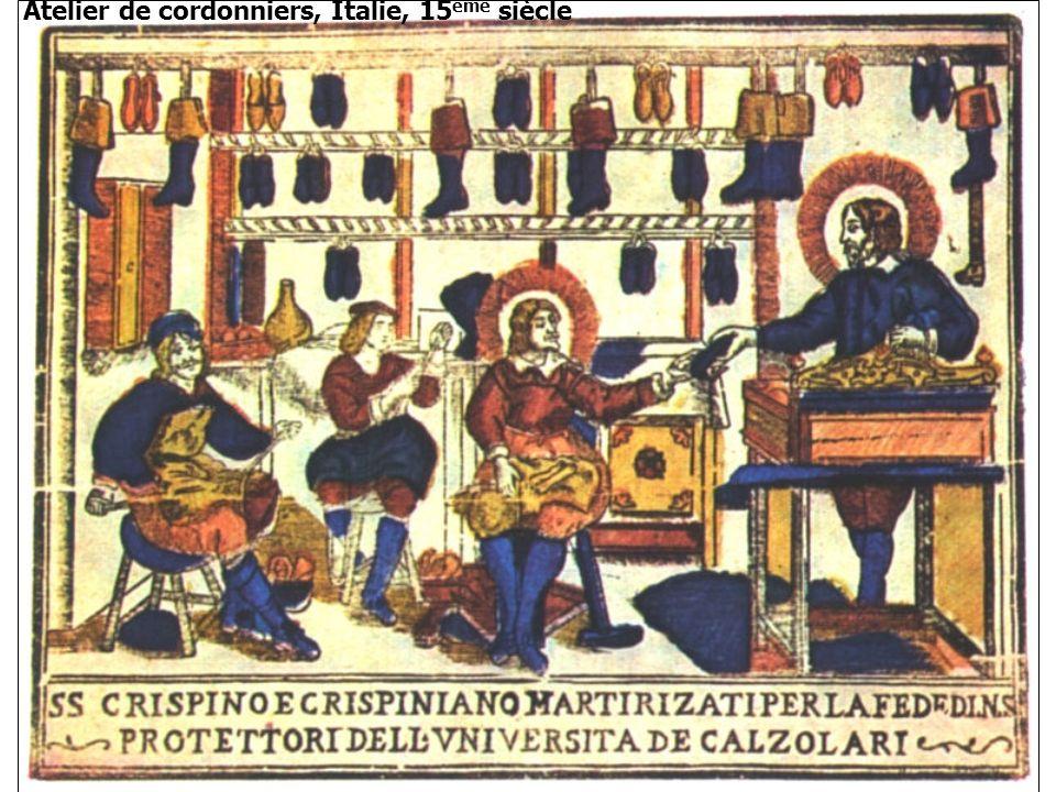 Atelier de cordonniers, Italie, 15 ème siècle
