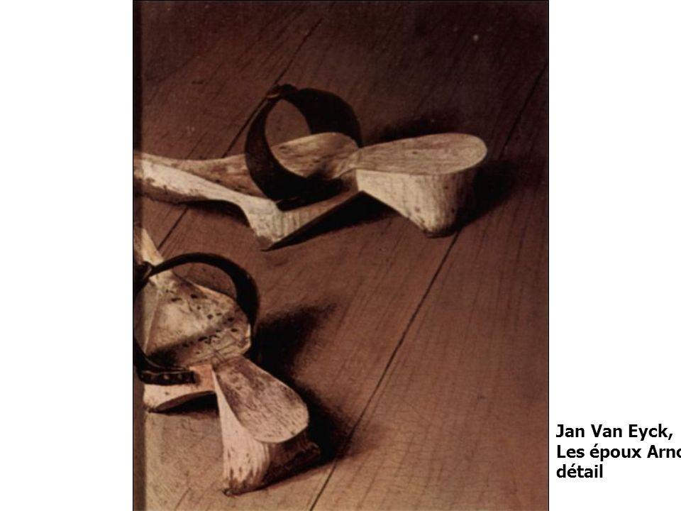 Jan Van Eyck, Les époux Arnolfini détail