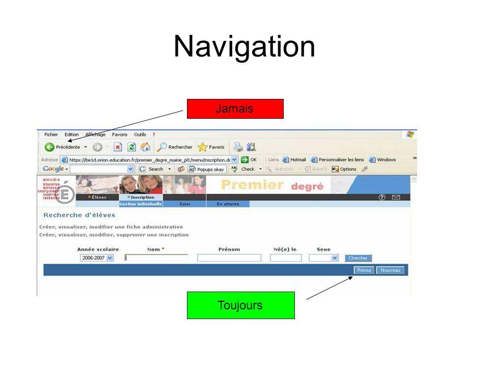 Navigation Jamais Toujours
