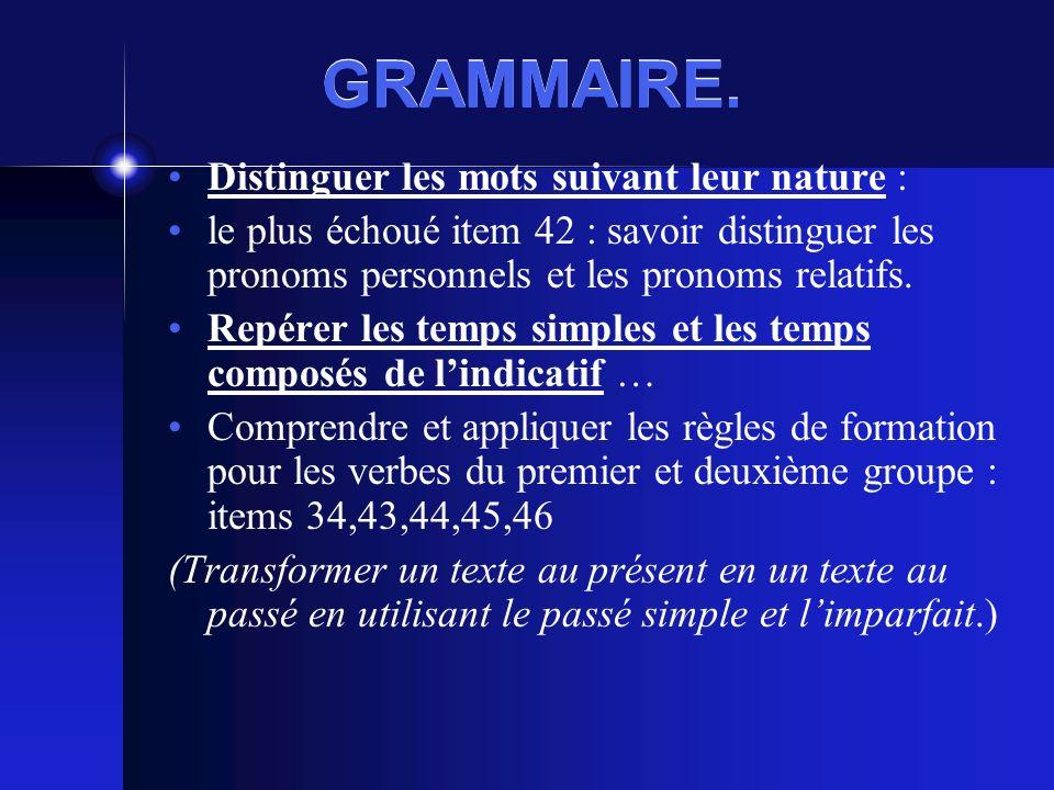 GRAMMAIRE.