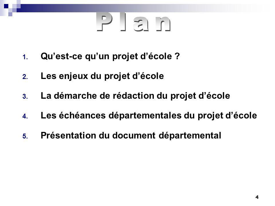 4 1.Quest-ce quun projet décole . 2. Les enjeux du projet décole 3.