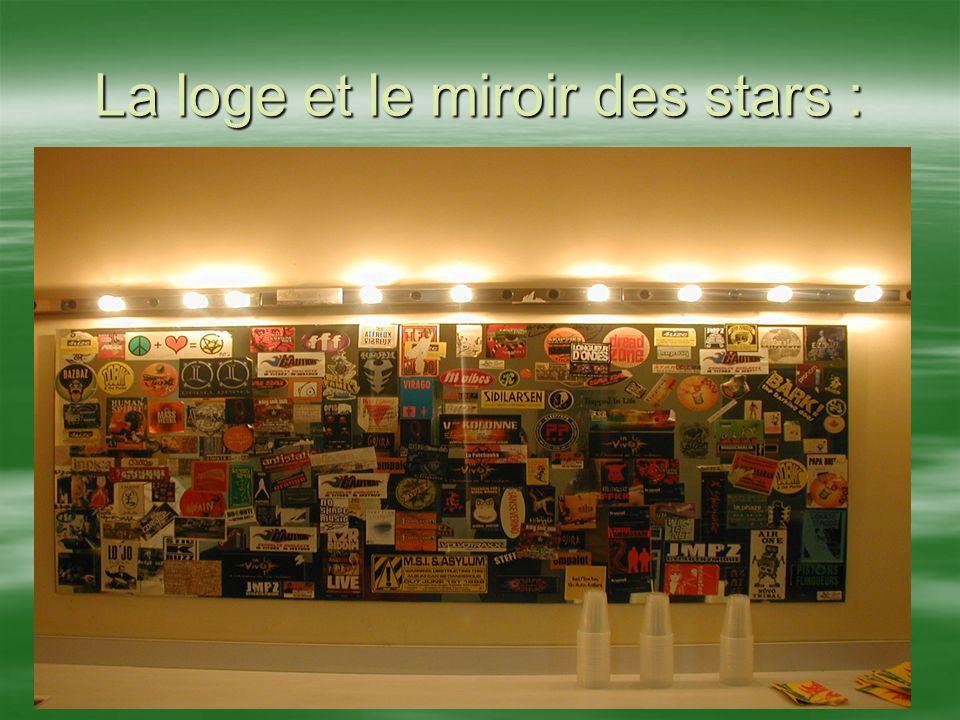 La loge et le miroir des stars :